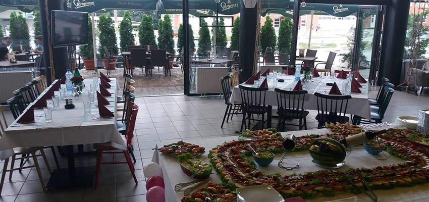 Ambijent za proslave restorana Campus.rs u Novom Sadu